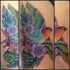 Lucky bird Tattoo