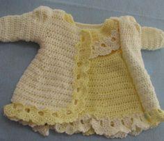 Lemon Lace Baby Dress and Matching Jacket Crochet Pattern