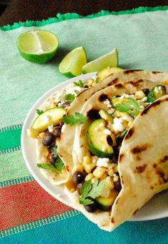 Healthy veggie tacos -- a tasty twist on family lunch! (replace cheese / sour cream for dairy-free)