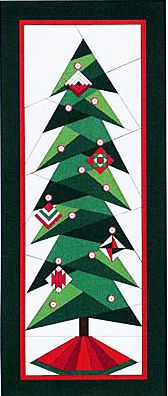 "A Little Bit Shorter Tall Tree - Foundation Paper Piecing Patterns – 17"""" x 41"""" Quilt -"