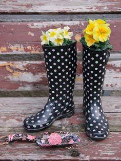 DIY Rain Boot Planters - Gardening Ideas - Good Housekeeping