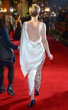 Jennifer Lawrence, Catching Fire Premiere in Dior