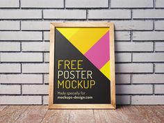 Free Posters Mockup PSD This week we publish completely new posters set. Brick wall and wooden floor gives that special magic mood, that is very im...