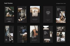 Instagram Stories Pack #Features#Design#variations#Photoshop Instagram Design, Instagram Feed, Instagram Story Template, Instagram Story Ideas, Instagram Templates, Social Media Branding, Social Media Design, Web Design, Layout Design