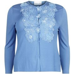 Giorgio Grati Glicine Flower Appliqué Cardigan (5,700 THB) ❤ liked on Polyvore featuring tops, cardigans, floral tops, applique top, button front cardigan, floral cardigan and flower cardigan