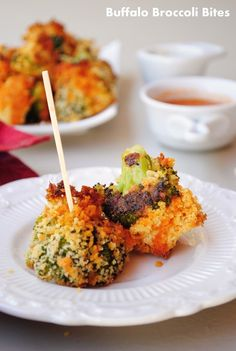 Baked Buffalo Broccoli Bites