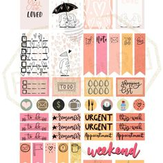 Free Printable You Are Loved Theme Planner Weekly Stickers from Pelhuaz By Red {store checkout required}