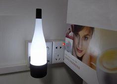 Light control LED bottle nightlights
