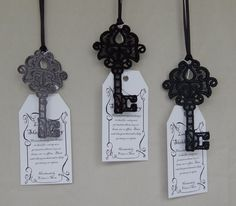 Lace Skeleton Key  Black by MagickalMiscellany on Etsy