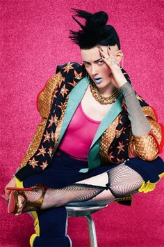 "I Want Fashion... And Prozac!: ""Breakin' My Heart"" features Sadie Pinn, shot by Diana Gomez 4 1883 Magazine"
