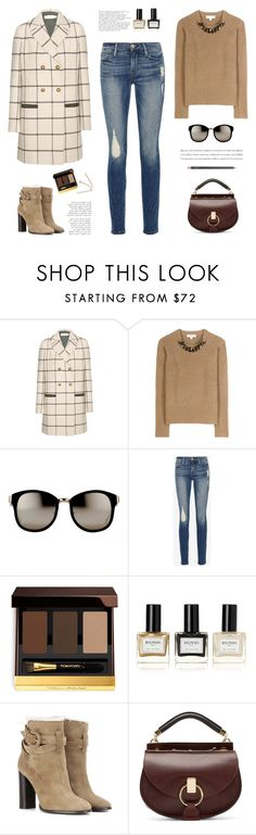 """""""..."""" by yexyka ❤ liked on Polyvore featuring Tory Burch, Burberry, Linda Farrow, Frame Denim, Tom Ford, Balmain, Chloé and MAC Cosmetics"""