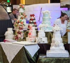 Seriously, look at ALL those stunning wedding cakes from the Nashville PWG Wedding Show! This show really brings you the absolute best wedding vendors in all of Nashville! Don't miss the next show, go to Nashville.PWGShows.com and use code PIN for $2 off tickets! #nashvillewedding #southernwedding #weddingcake