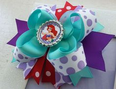 Ariel Inspired Hair Bow Little Mermaid Hair Bow by DLovelyBOWtique, $8.99