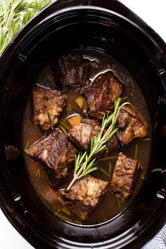 Slow Cooker Beef Short Ribs are cooked in the crockpot until they reach fall-off-the-bone deliciousness. This simple dish is a classic that is full of comfort food flavor. - Slow Cooker - Ideas of Slow Cooker Slow Cooker Short Ribs, Slow Cooker Ribs Recipe, Beef Ribs Recipe, Best Slow Cooker, Slow Cooker Beef, Slow Cooker Recipes, Beef Recipes, Crockpot Beef Ribs, Smoker Recipes