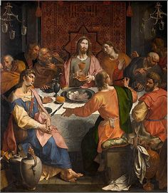 16th cent. Ambrosius Francken I (circa 1544/1545-1618) The Last Supper,oil on panel,280×240 cm,Royal Museum of Fine Arts Antwerp.
