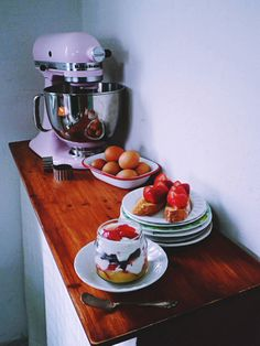 kitchenaid pink mixer and my work room