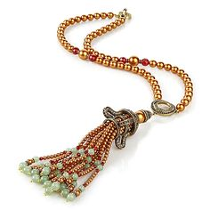 "Heidi Daus ""Just Fabulous"" Tassel Drop Necklace"