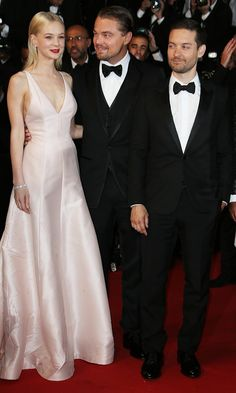 Carey Mulligan, Leonardo DiCaprio and Tobey Maguire at The Great Gatsby premiere