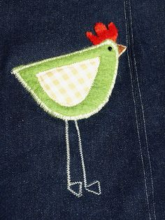 Little bird knee patch. Adorable.