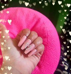 Nails, Beauty, Crystals, Hearts, Finger Nails, Ongles, Beauty Illustration, Nail, Nail Manicure