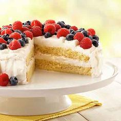 Tres-Leches Cake with Berries A variety of milks combine in this cake to create a luscious treat.