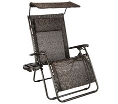 Bliss Hammocks Deluxe XL Gravity Free Recliner with Canopy & Tray