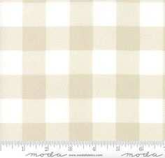 """13 Yards in Stock - Moda Fabrics - 108"""" Wide Buffalo Check Sand White Quilt Back by Moda Classic - 11139 58 - 100% Cotton"""