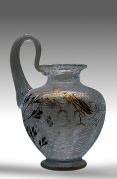 Emile Gallé (1846 – 1904) was a French Art Nouveau glassmaker, cabinetmaker and ceramicist. After training in art, botany and chemistry, he began to produce ceramics, furniture and jewellery.…
