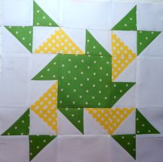 Block made for Bev's Triangle Quilt. Anyone know the name of the pattern?