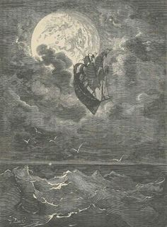 Sailing to the moon, The Adventures of Baron Munchausen... illustrated by Gustave Doré London, 1867