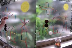 Sticky Window Art--This fun art project has endless possibilities. Kids will be happy to stick with it for a while!