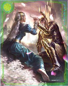 Odin and Frigga Marvel War of Heroes