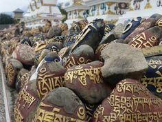 Mani Stones, McLeod Ganj, Dharamsala, India. #india #prayer #travel #buddhism #tibet #culture #dharamsala #Kamalan