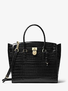 259baa71c2550 Hamilton Embossed-Leather Weekender Michael Kors Fashion