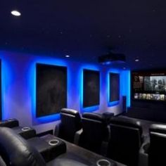 home theater. I love the lighting on the wall. I will have this in my house one day!