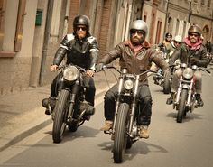 the real bad boys. i can imagine the amplified roar of the motorcycles in those narrow streets.