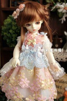 Hi Tea Series YOSD 1 6 BJD Doll Girl Pink Dress LUTS DOD Island Doll as Lati | eBay