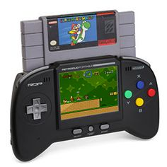 Retro portable duo gaming system! Plays SNES & NES games. Also has optional SG adaptor.