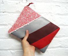 ipad mini case/rectangular clutch  red burgundy by GirlGeniusGoods, $48.00