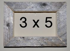 3 x 5 Driftwood Picture Frame 313 by DriftwoodMemories on Etsy
