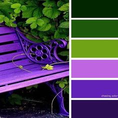 Shades Of A Purple Bench (Photo Credit brightboldbeautif) # Shades Of A Purple Bench (Photo Credit brightboldbeautif) The post Shades Of A Purple Bench (Photo Credit brightboldbeautif) # appeared first on Wohnen ideen. Bedroom Color Schemes, Colour Schemes, Color Combos, Green Pallete, Colour Pallette, Small Bathroom Paint, Colours That Go Together, Purple Themes, Nature Artwork