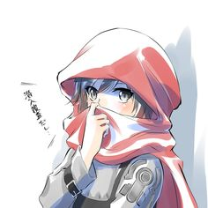 Ruby Rose wrapped in her cloak