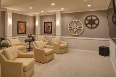 media rooms in model homes - Google Search