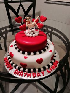 Betty Boop Th Birthday Cake Topper