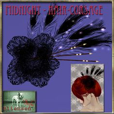 c71e0e9606eb Second Life Marketplace - Bliensen + MaiTai - Midnight - Hair Corsage  Midnight Hair