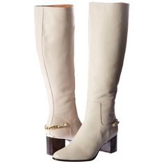 Calvin Klein Fabrice (Soft White Waxy Tumbled Leather) Women's Shoes ($203) ❤ liked on Polyvore featuring shoes, boots, knee-high boots, white, knee boots, genuine leather boots, leather boots, real leather knee high boots and knee high leather boots