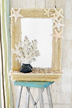 Top 10 Summer Inspired Home Decorations // Coastal Rope Mirror Makeover Challenge
