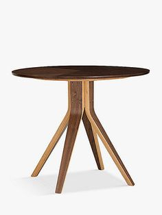 Small Occasional Table, Disposal Services, Walnut Veneer, Round Dining Table, Home Collections, John Lewis, Wood Grain, Furniture, Design