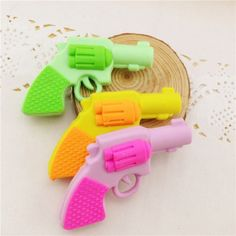 Cool Pistol Rubber Erasers