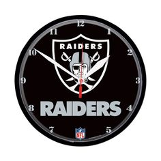 Oakland Raiders Round Wall Clock
